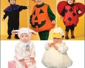 Infant and Toddler Costume.  Lady Bug, Pumpkin, Witch, Duckling and Lamb. Simplicity 2788