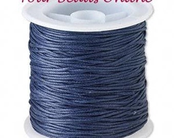 Wax Cotton Cord 1mm Navy Blue 8 yards or 24 feet 23 Colors Available