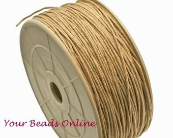 Wax Cotton Cord 1mm Natural 8 yards or 24 feet 25 Colors Available