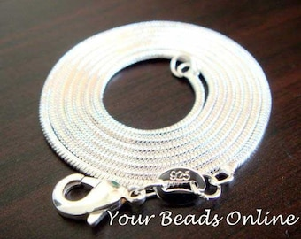 925 Sterling Silver Snake Chain Necklace 2mm 20 inch