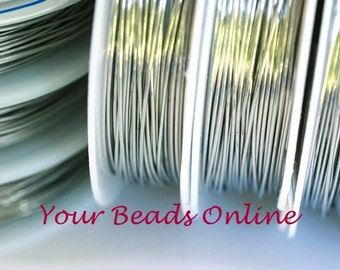 22 gauge Non Tarnish Silver Plated Enameled Copper Wire 7 yards or 22 feet