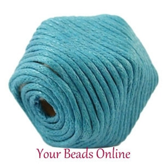 Wax Cotton Cord 1mm Turquoise Blue 8 yards or 24 feet  25 Colors Availables