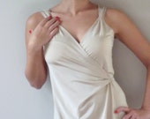 Custom White dress- Made to measure custom wrap white dress
