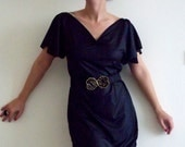 Black Tunic with Lovely Metallic Floral Gold and Black Belt