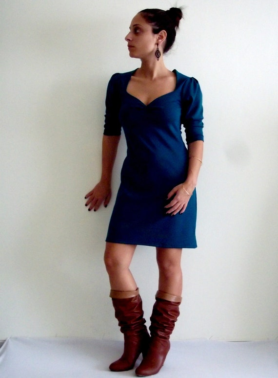 Custom Dress- Made to order 'Dida' blue custom dress