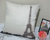 sale--The Paris Eiffel Tower Cushion / Pillow Cover