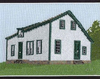 Counted Cross Stitch Kit of the Anthony Flower House, Cambridge-Narrows, N.B.
