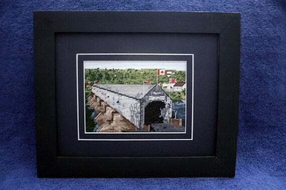 Chart of Hartland's Longest Covered Bridge in the World, New Brunswick