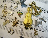 Lot of Mixed Musical Instruments Charms