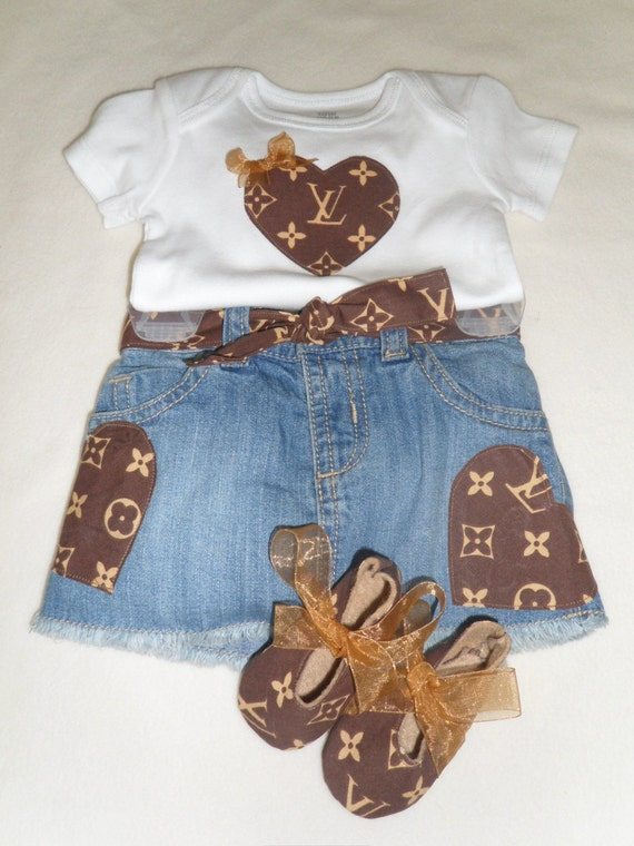 Baby Girl Louis Vuitton Inspired Outfit