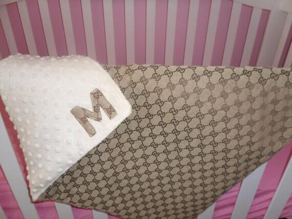 Gucci Print Baby Blanket