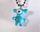 RUFUS Glass Lampworked BROOKLYN MONSTER Pendant