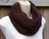 Cowl in Brown Tweed Crochet Unisex, Men's