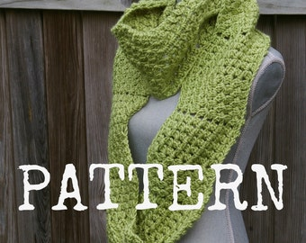 Crochet Pattern Infinity Scarf PDF Ripple Puff