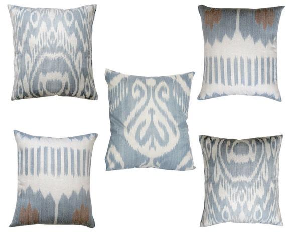 Set Of 5 Uzbek Ikat Pillow Covers 16x17 17x15