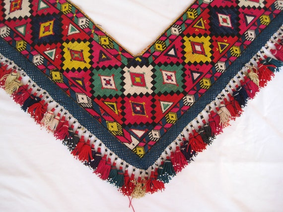 Fully handmade silk embroidery  Vintage Uzbek beautiful soya- gosha from Uzbekistan