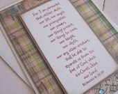 For I am persuaded... (single card in pretty plaid)