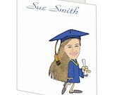 Personalized graduation notecards