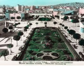 Greece Thessaloniki Fair, Vintage Unused Real Photo Post Card, Hand Colored