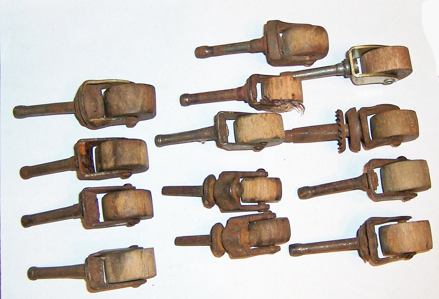 Vintage Furniture Casters Wheels 13 Wood And Metal