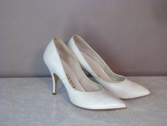 50s heels 1950s shoes vintage white marilyn leather