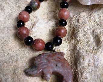 Mystery Stone Dolphin with Mystery Stone Beads