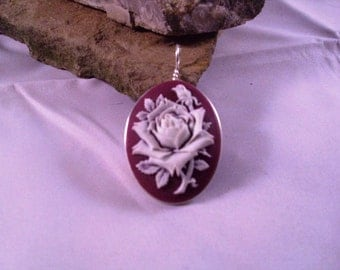 Rose Cameo Hand Wrapped