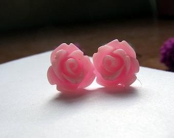 Pinky Pinky- pink earring