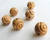 MACRAME FLASHBACK - Vintage Wood Beads