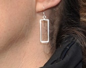 Large Rectangle Sterling Earrings