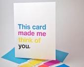 Helvetica Type Nerd CMYK Card