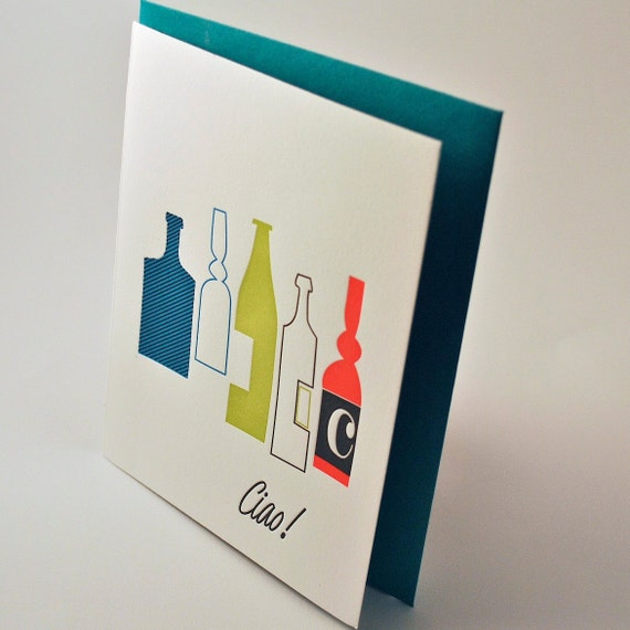 Ciao Letterpress Greeting Card