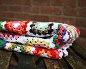 Granny Square Blanket Crochet pattern pdf tutorial - haakpatroon - REVitup