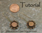 Tutorial and Two Tiny Pennies - Tiny two Cents Earrings