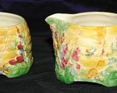 Royal Winton Grimwades Beehive Creamer and Open Sugar