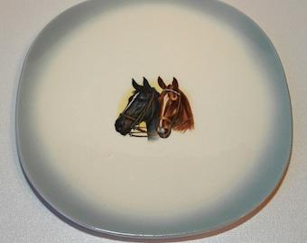 Horses Vintage Equestrian Decorative Plate
