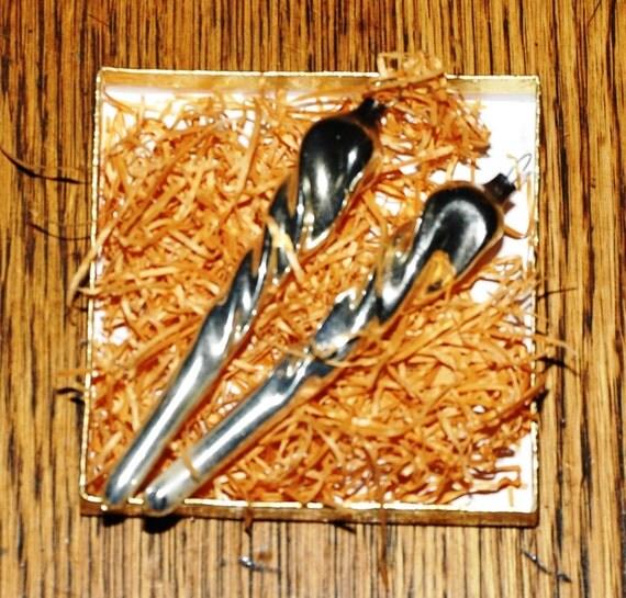 Vintage Mercury Glass Icicles - Christmas Tree Ornaments