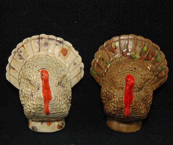 Vintage Turkey Salt and Pepper Set - Ceramic