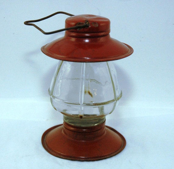 Railroad Lantern Children's Glass Candy Container