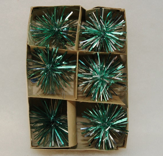 1960 S Tinsel Christmas Ornaments Set Of 6 By Myheirloomcharms
