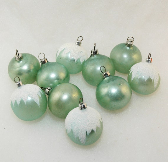 Vintage West Germany Christmas Ornaments Set By