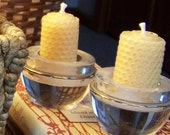 Beeswax Candles- HUGE Votives set of 4, Candle, Beeswax, Christmas Gift