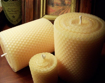 Beeswax Candle | Pillar Candle | 4x3 Pillar  | Beeswax | Candles | Candle Holders | House Warming Gift |