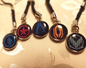 Mass Effect Inspired Cell Phone Charm, Keychain, Zipper Pull, Choose From 5 Different Styles