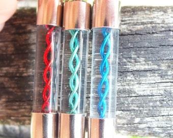 Resident Evil Set of 3 Interchangable Handblown Glass Pendants, choose from T Virus, T Veronica, G Virus, G Vaccine and Mixed