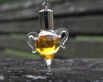 Miniature Glass Amphora Felix Felicis  Charm Pendant Necklace