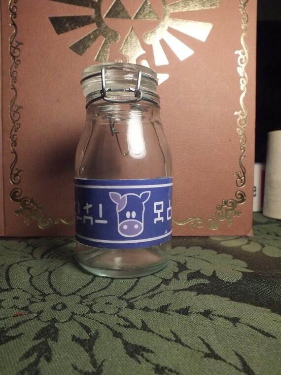 Full Sized Lon Lon Milk Cosplay Prop Glass Bottle