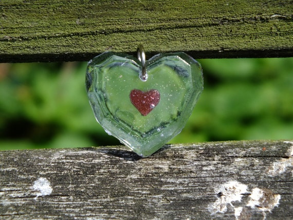 Legend of Zelda inspired Heart Piece Container Necklace