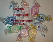 Washcloth Lollipop Reserved listing for mrldisle02