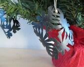 1 Bike Tube Snowflake Ornament Eco Friendly Christmas Tree Decoration